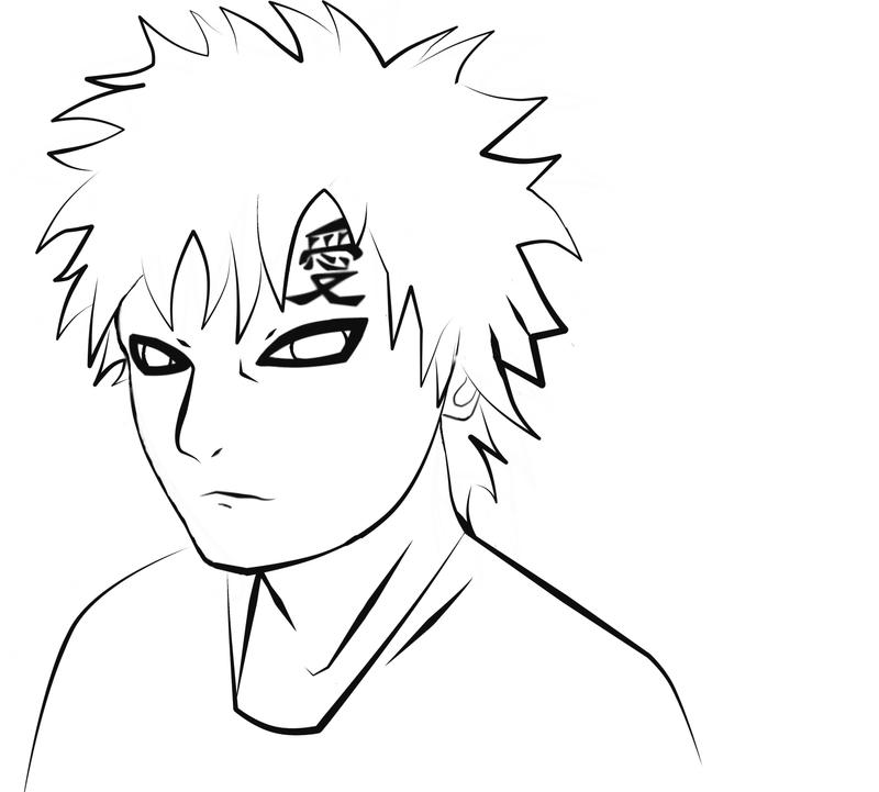 gaara coloring pages - photo#25