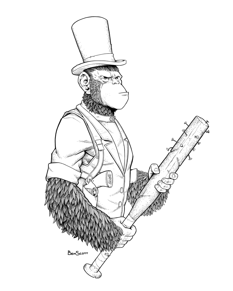 Chimp Sketch by benscott81