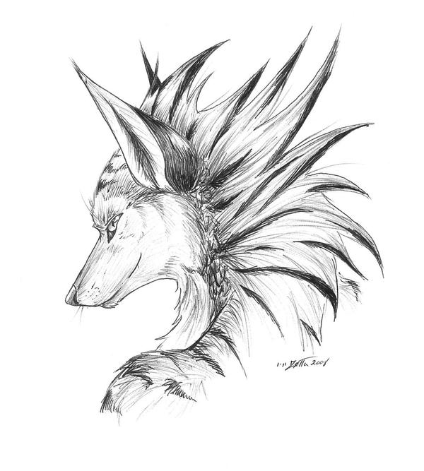 Wolger Pen-Doodle by The-Black-Wolf