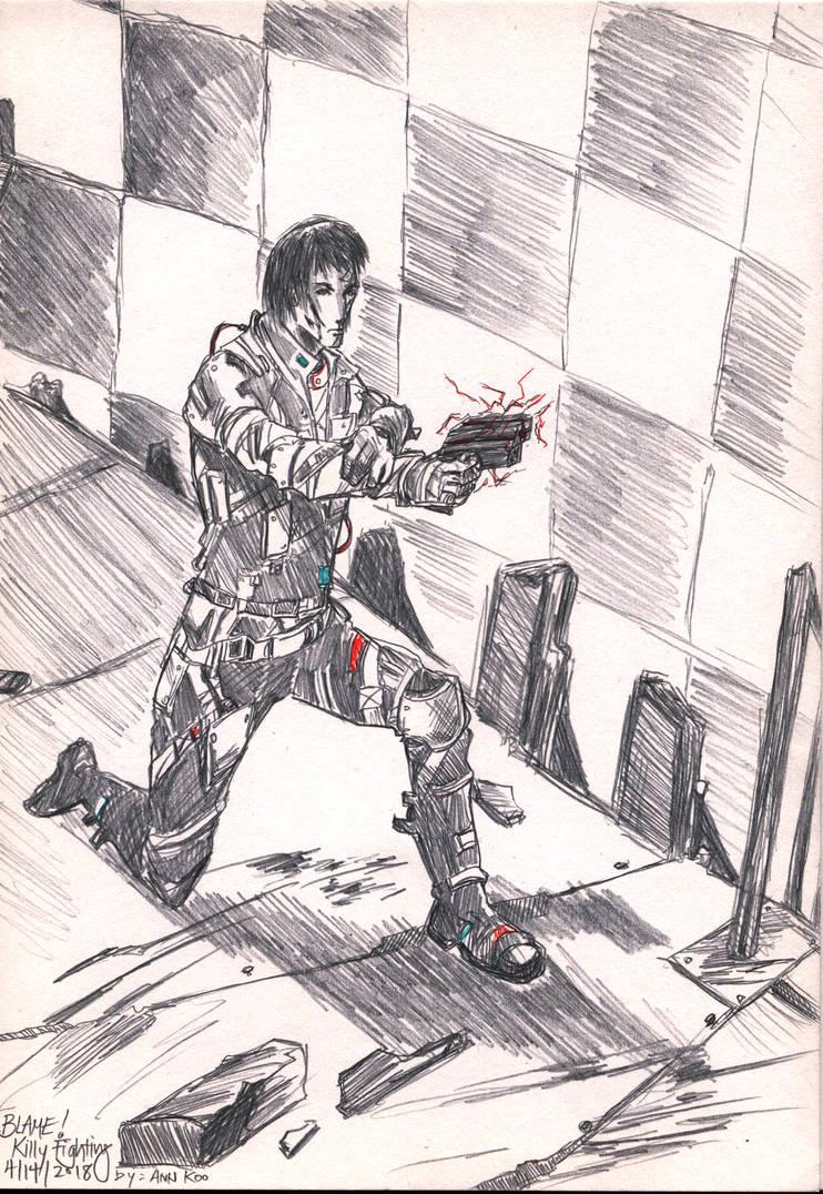 BLAME! - Killy Fighting by RinoaDestiny
