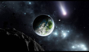 Late Planetrise by villekroger