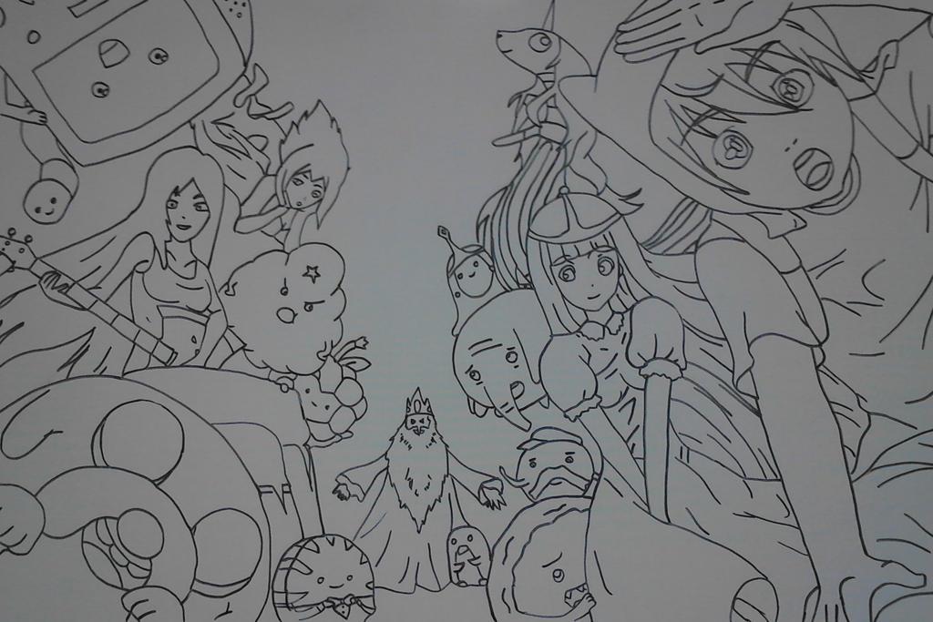 Anime Adventure Time by Libera--me on DeviantArt