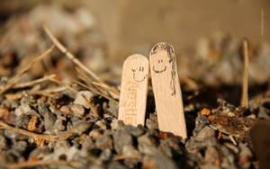Happy stick couple