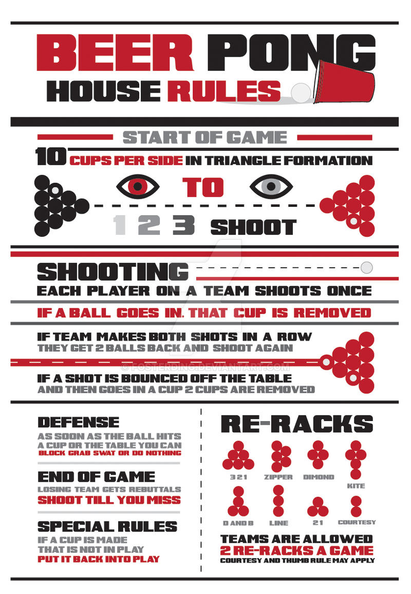 house rules for beer pong