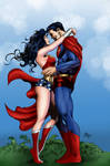 Wonder Woman and Superman by Mike deodato Jr.
