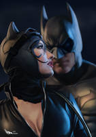 Batman and Catwoman by Digraven