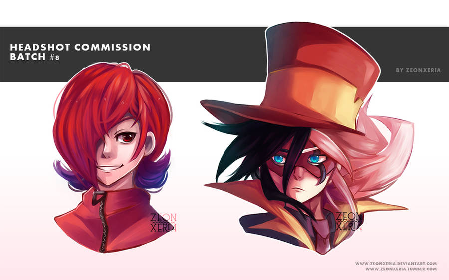 [Commission]: Headshot Commission Batch #8 by ZeonXeria