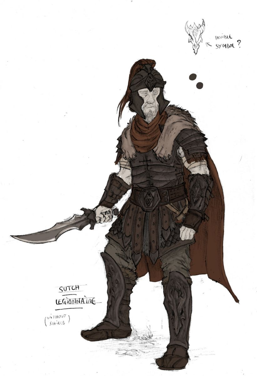 cyrodiil sutch legionnaire armor concept art by