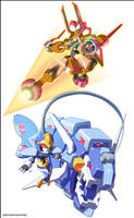 Gaxelleroid and Abysroid by ultimatemaverickx