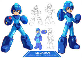 Megaman (UMX Style) by ultimatemaverickx