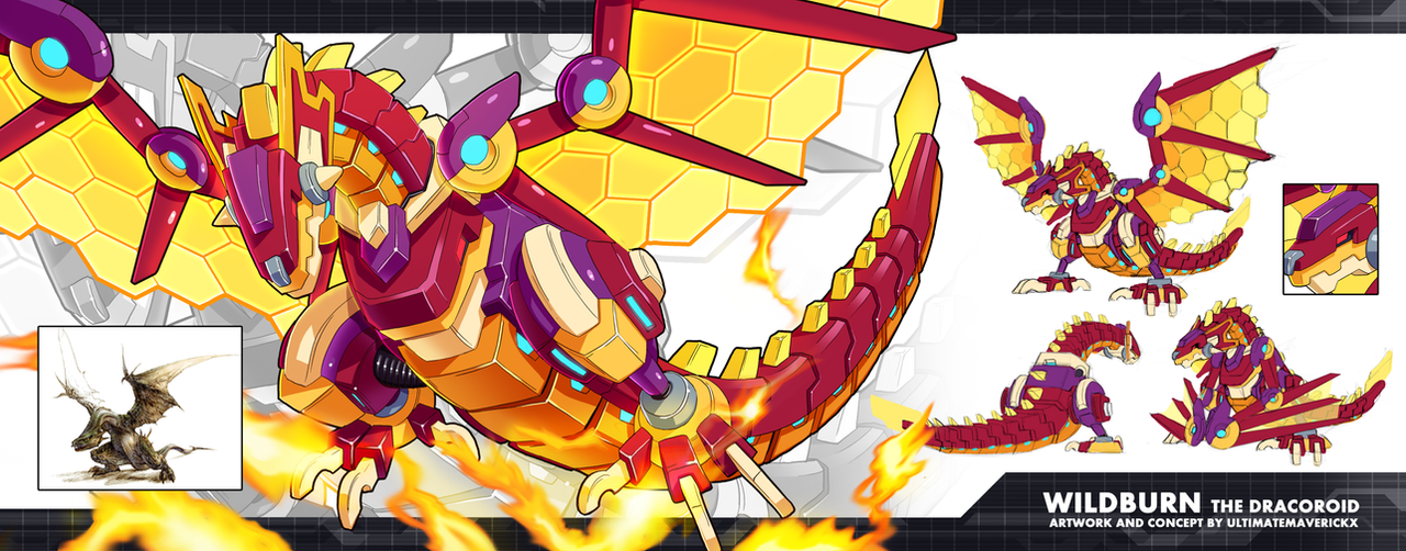 MMZX Ultimus- Wildburn the Dracoroid by ultimatemaverickx