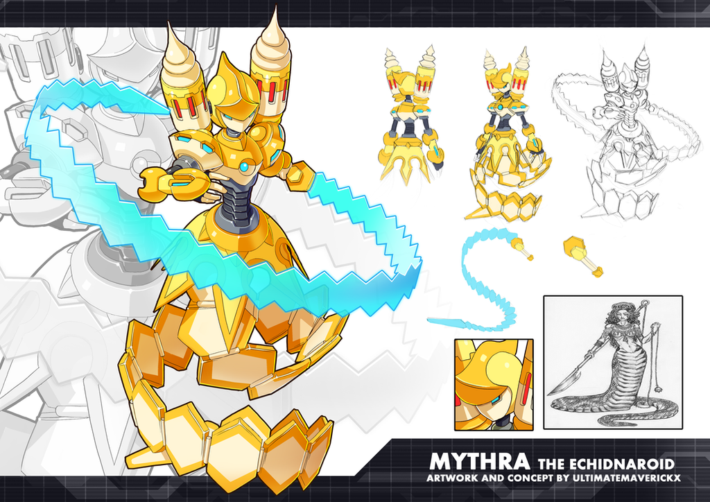 MMZX Ultimus- Mythra the Echidnaroid by ultimatemaverickx