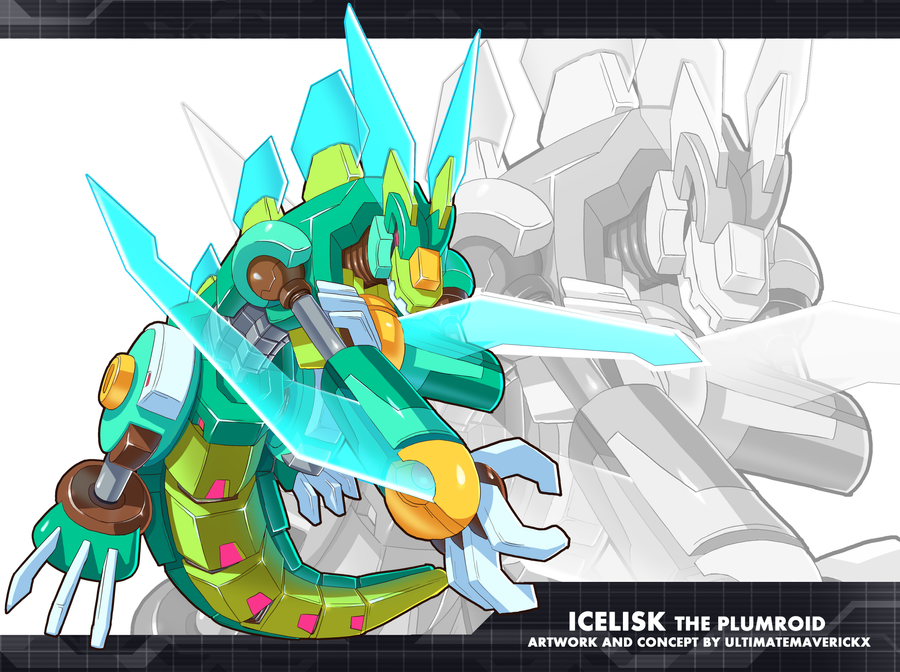 MMZX Ultimus- Icelisk the Plumroid by ultimatemaverickx