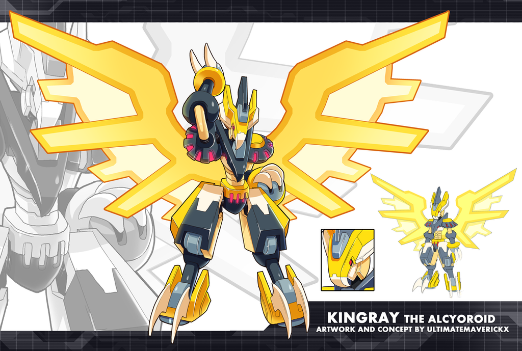 MMZX Ultimus- Kingray the Alcyoroid by ultimatemaverickx