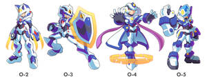 Commission: Model O-2,O-3,O-4 and O-5 by ultimatemaverickx