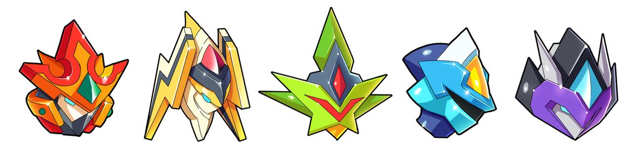 Commission: Battle Tower Bosses Biometal Form by ultimatemaverickx