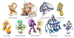 Commission: Raikomaru's Robot Masters