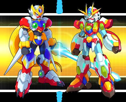 Commission: Zero and X Gundam Armors