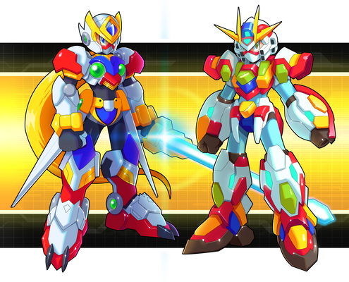 Commission: Zero and X Gundam Armors