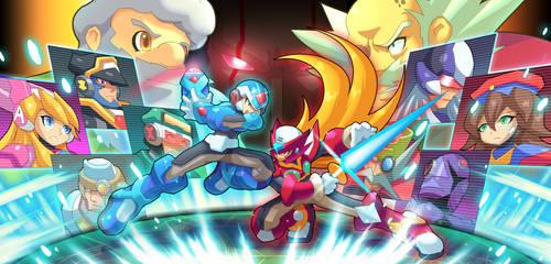 Commission: Destiny (X.EXE vs Zero.EXE) by ultimatemaverickx