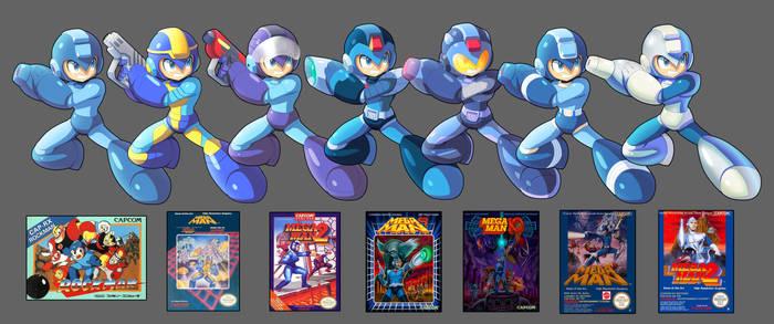 Megaman Box Art Forms