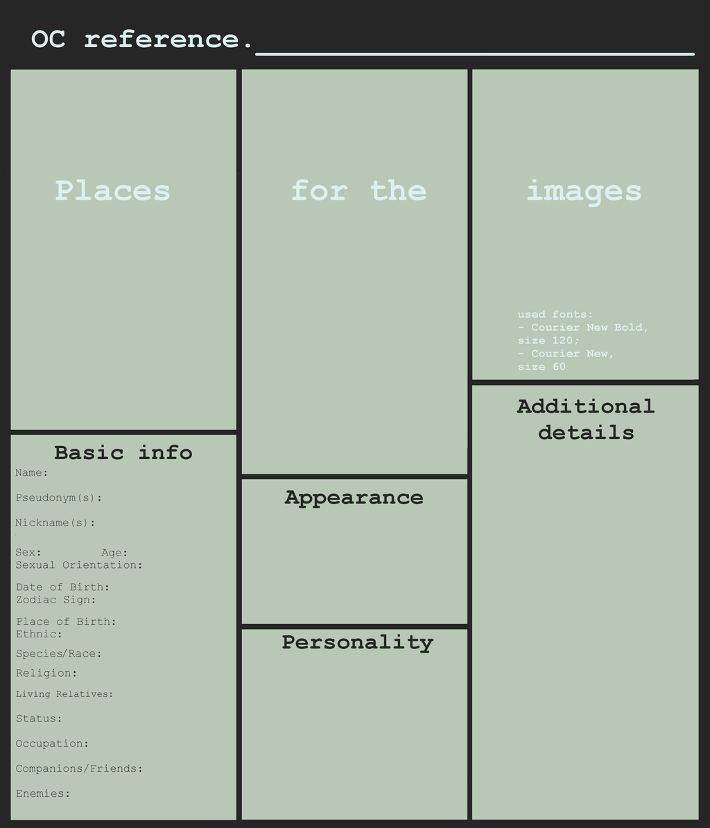 commission sheet template