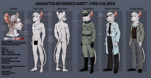 Character Reference Sheet: Zven Waldeck