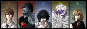 Death Note: Personal Top 5 Fav Characters by Amaryllex