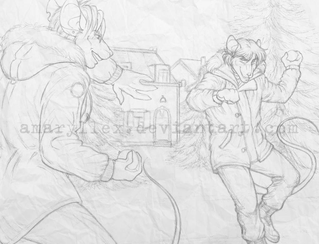Snowball Fight (sketch)