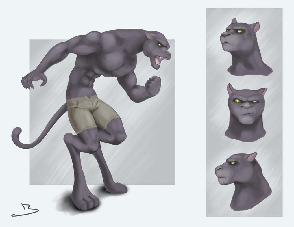 Were-Panther by jasonmohn