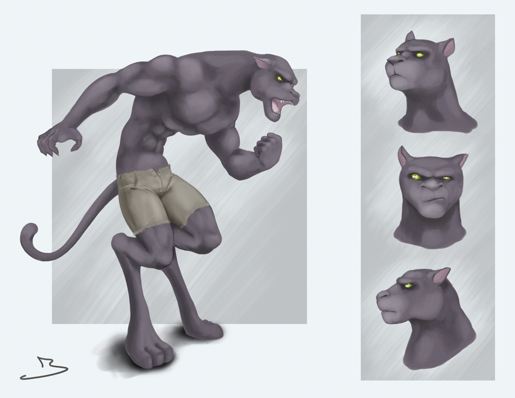 Were-Panther by jasonmohn
