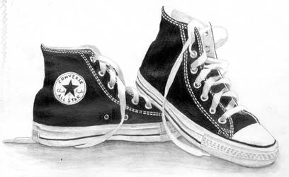 pencil - converse all-star