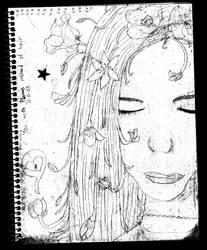 flowery hair :o