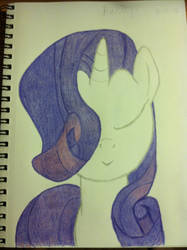 Rarity's new hairstyle by AmandaTheStampede