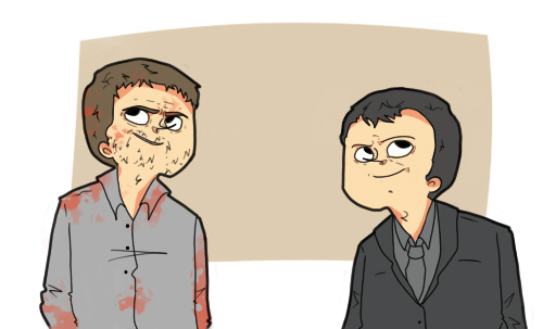 SPN: ALISTAIR AND CROWLEY by HYUMAN