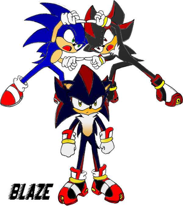 Sonic and shadow fusion by sad1c01 on deviantart - Sonic et shadow ...