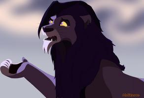 Koeru's purple lion request by molitzvec