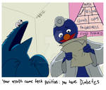 Cookie Monster goes to the Doc