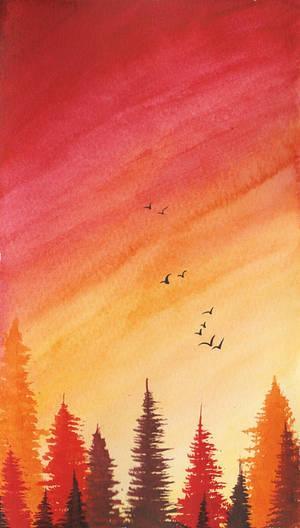 Fiery Forest by ReaperBunny