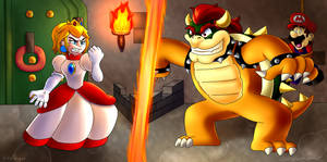 [COLLAB] Peach Vs Bowser! by JSGEntertainment