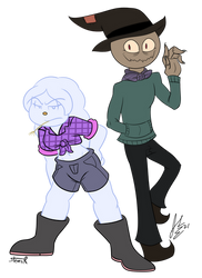 SnowBelle and Hektor - Swap AU