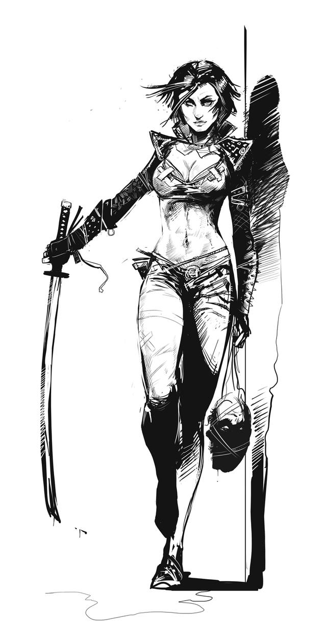 Vampire Hunter sketch by czarnystefan