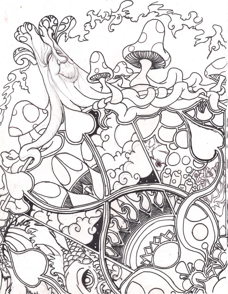 abstract space coloring pages - photo#12