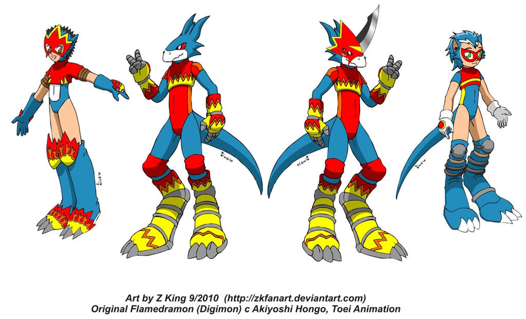 Flamedramon evolution