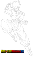 Gohan Normal Line Art