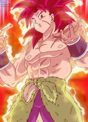 Broly Super Saiyan God by HiroshiIanabaModder