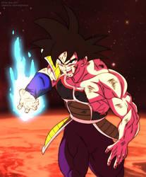 Bardock hizo lo posible para defender su planeta by HiroshiIanabaModder