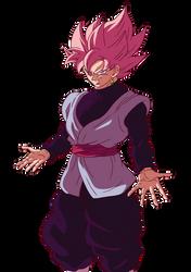 Black Goku SSJ Rose by HiroshiIanabaModder