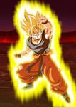 Son Goku Super Saiyajin (Aura) Poster