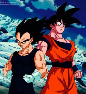 Vegeta y Goku Z
